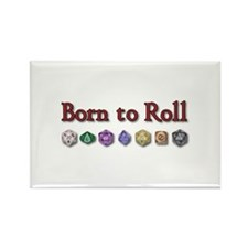 Born to Roll Rectangle Magnet
