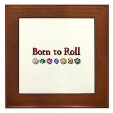 Born to Roll Framed Tile