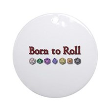 Born to Roll Ornament (Round)
