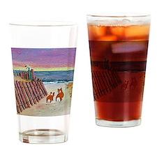 Unique Pembroke welsh corgi Drinking Glass