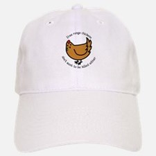 Free Range Chickens Vegan/Vegetarian Baseball Baseball Cap