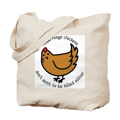 Free Range Chickens Vegan/Vegetarian Tote Bag