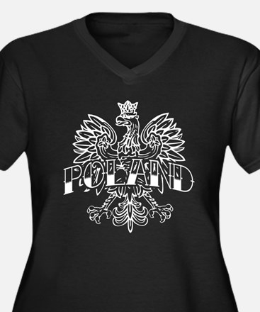 Poland White Eagle Ink Women's Plus Size V-Neck Da