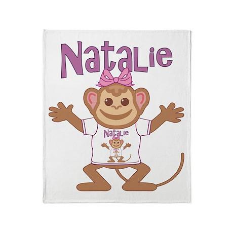 Little Monkey Natalie Throw Blanket