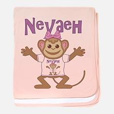 Little Monkey Nevaeh baby blanket
