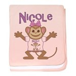 Little Monkey Nicole baby blanket