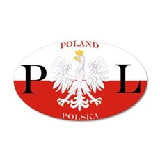 Poland/Polska 22x14 Oval Wall Peel
