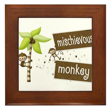 Mischievous Monkey Framed Tile
