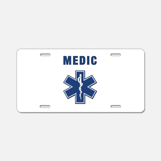 Medic and Paramedic Aluminum License Plate