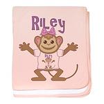 Little Monkey Riley baby blanket