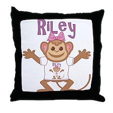 Little Monkey Riley Throw Pillow