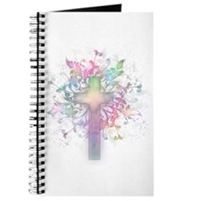 Rainbow Floral Cross Journal