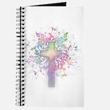 Rainbow Floral Cross Journal