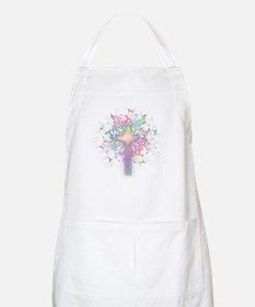 Rainbow Floral Cross Apron