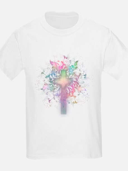 Rainbow Floral Cross T-Shirt