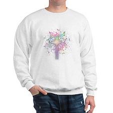 Rainbow Floral Cross Jumper