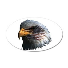 USA Eagle 22x14 Oval Wall Peel