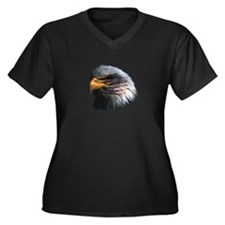 USA Eagle Women's Plus Size V-Neck Dark T-Shirt