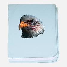 USA Eagle baby blanket