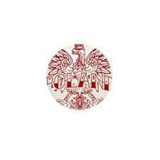 Poland Ink Red Eagle Mini Button