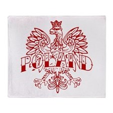 Poland Ink Red Eagle Throw Blanket