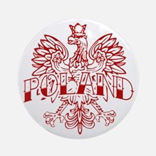Poland Ink Red Eagle Ornament (Round)