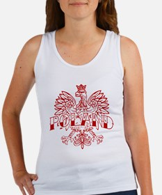 Poland Ink Red Eagle Women's Tank Top