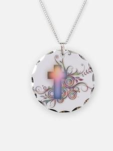 Swirls N Cross Necklace