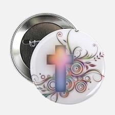 "Swirls N Cross 2.25"" Button (100 pack)"