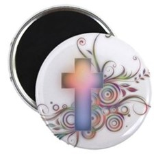 Swirls N Cross Magnet