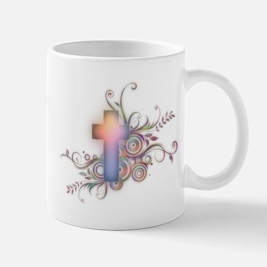 Swirls N Cross Mug