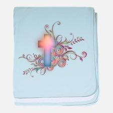 Swirls N Cross baby blanket