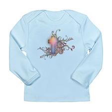 Swirls N Cross Long Sleeve Infant T-Shirt
