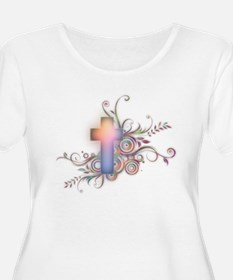 Swirls N Cross T-Shirt