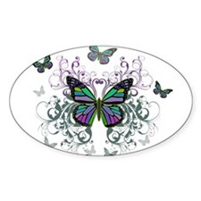 MultiColored Butterflies Decal