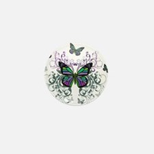 MultiColored Butterflies Mini Button