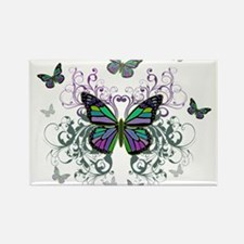 MultiColored Butterflies Rectangle Magnet