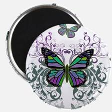 """MultiColored Butterflies 2.25"""" Magnet (100 pack)"""