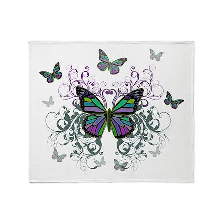 MultiColored Butterflies Throw Blanket