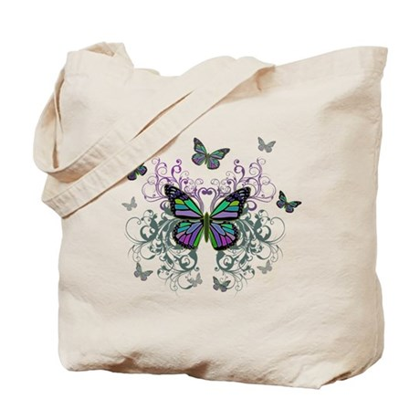 MultiColored Butterflies Tote Bag