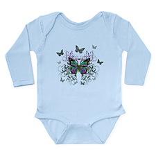 MultiColored Butterflies Long Sleeve Infant Bodysu