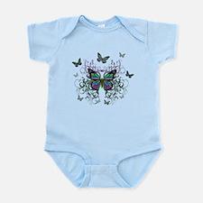 MultiColored Butterflies Infant Bodysuit