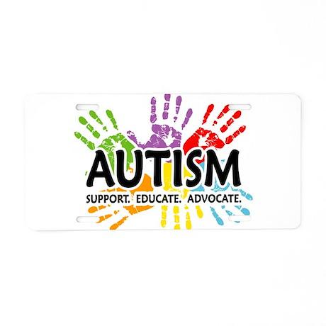 Autism:Handprint Aluminum License Plate