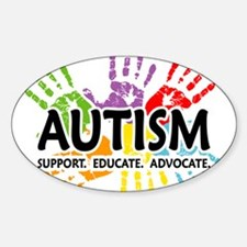 Autism:Handprint Sticker (Oval)