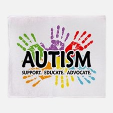 Autism:Handprint Throw Blanket