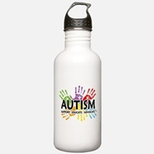 Autism:Handprint Water Bottle