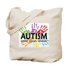Autism:Handprint Tote Bag