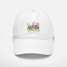 Autism:Handprint Baseball Baseball Cap