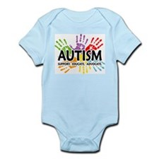 Autism:Handprint Infant Bodysuit