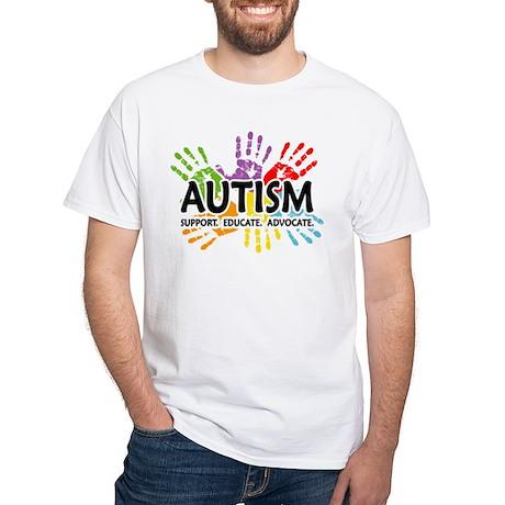 Autism:Handprint White T-Shirt